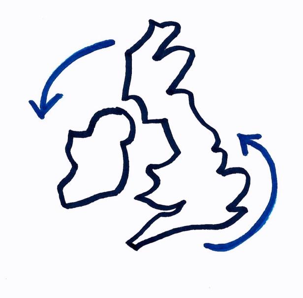 Logo - map of British Isles